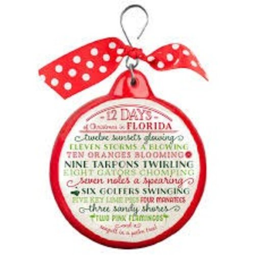 Occasionally Made 12 Days of Florida Christmas Ornament