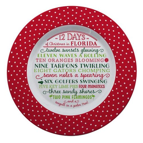 Occasionally Made 12 Days of Florida Christmas Plate