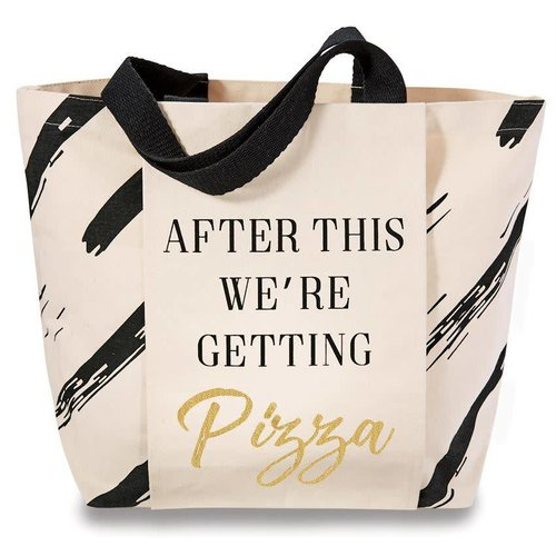 """Gym Tote Bag """"Pizza After"""""""