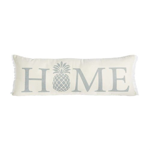 Home Pineapple Washed Canvas Frayed Pillow