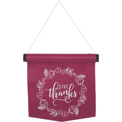 Give Thanks Wall Banner