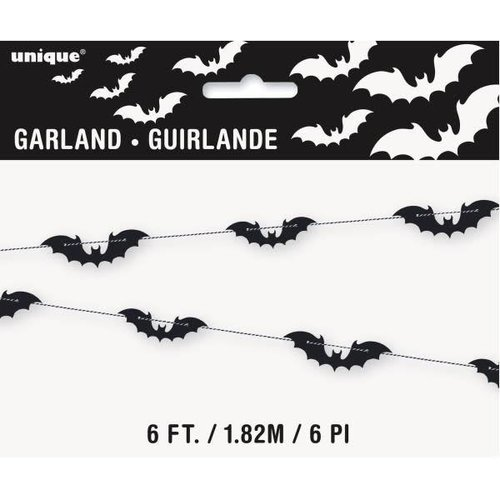 Black Bat 6ft Garland