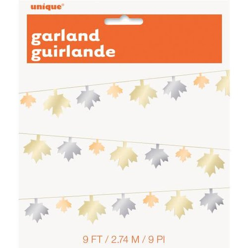 Metallic Fall Leaf Garland