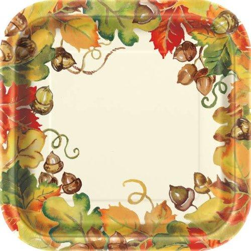 Harvest Pumpkins 7in Square Plate
