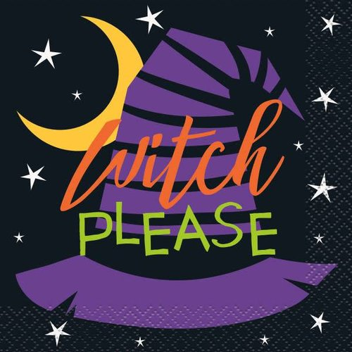 *Witch Please Beverage Napkin