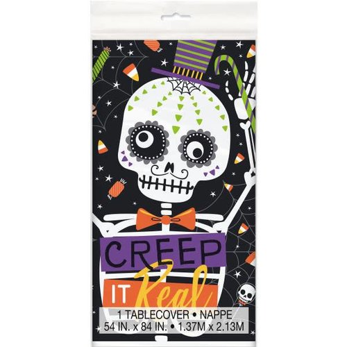 Skeleton Trick or Treat Tablecover
