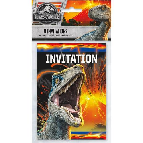 Jurassic World 2 Invitations