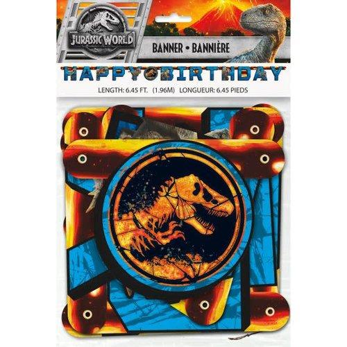 Jurassic World 2 Birthday Banner