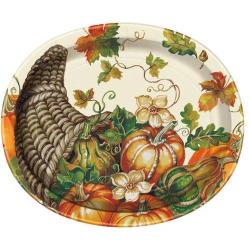 Harvest Pumpkins Oval Platter