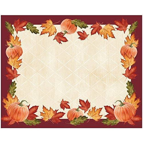 Pumpkin Leaves Placemats 12ct