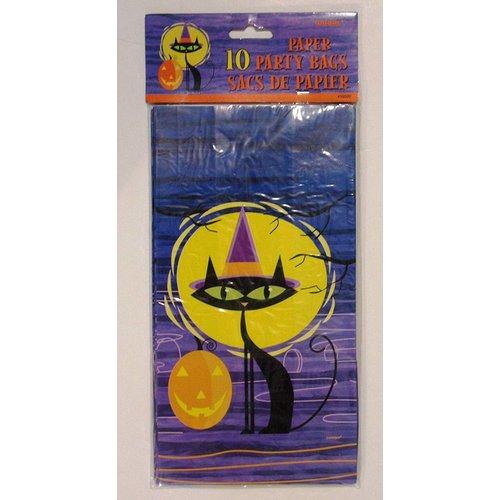*Halloween Cat/Moon Paper Sacks 10pk