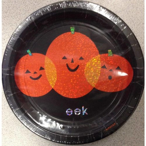 "*Eek Boo 7"" Dessert Plates 8ct"