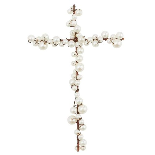 Pearl and Wire Cross