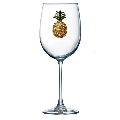 Queen's Jewels Pineapple Stemmed Wine Glass
