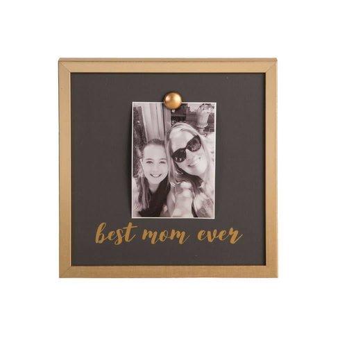 EverEllis Gold Magnet Best Mom Ever Photo Frame