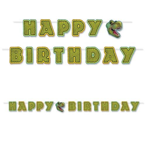 Happy Birthday Dinosaur Streamer Banner