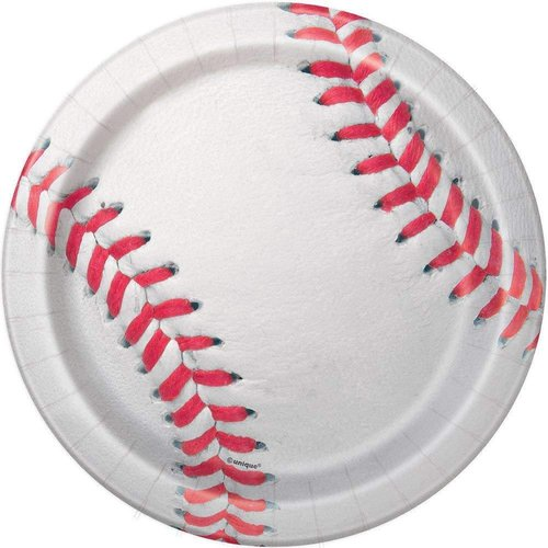 Baseball 7in Paper Plate