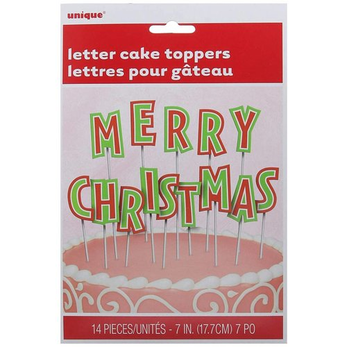 *Merry Christmas Letter Cake Toppers (14 letters)