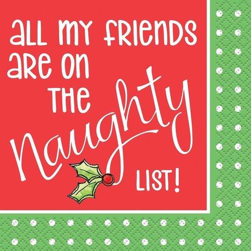 Naughty List Beverage Napkins 16ct