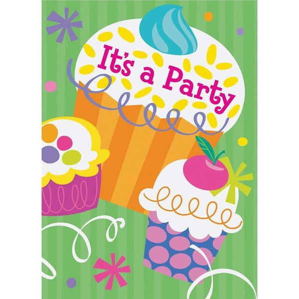 cupcake party invitations amys party store