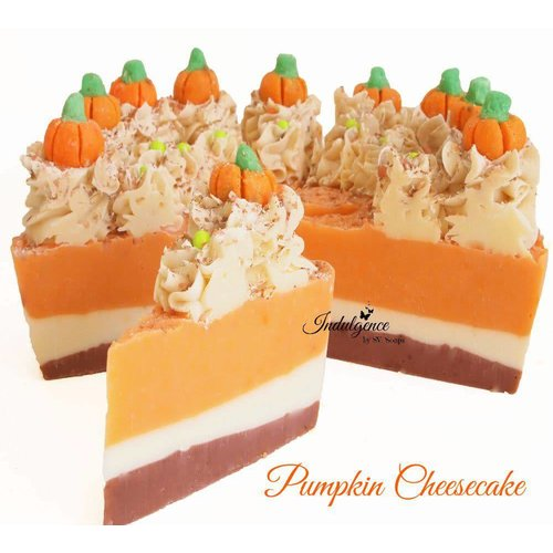Indulgence by SV.Soaps Pumpkin Cheesecake Soap Cake Slice