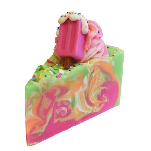 Indulgence by SV.Soaps Rainbow Sherbet Cake Slice Soap