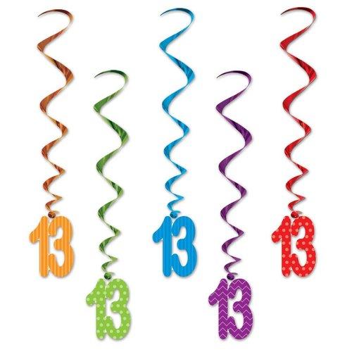 13th Birthday Whirls 5ct