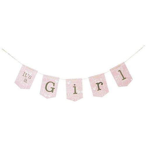 It's A Girl Jointed Pennant Banner