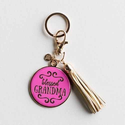 Mary Square Blessed Grandma Keychain