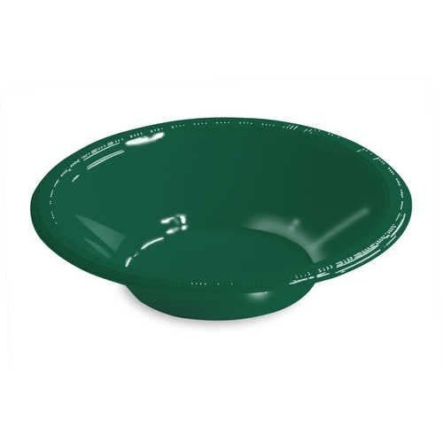 *Hunter Green 12oz Plastic Bowls 20ct