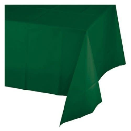 *Hunter Green 54x108 Rectangle Plastic Tablecover