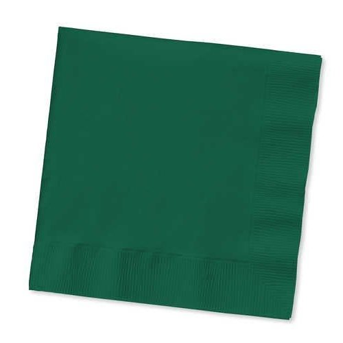*Hunter Green 50ct Beverage Napkins