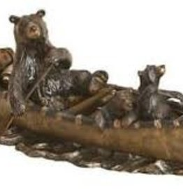 """Canoe Trip"" Bear Sculpture"