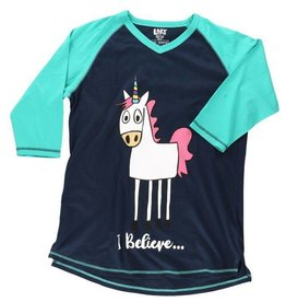 Lazy One I Believe Unicorn Tall PJ Tee