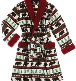 Lazy One Bear Fair Isle Bath Robe