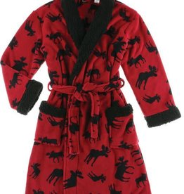Lazy One Classic Red Moose Bath Robe