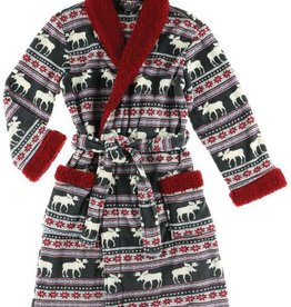 Lazy One Moose Fair Isle Bath Robe