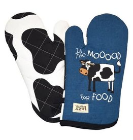 Lazy One In The Mood For Food Oven Mitt
