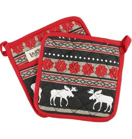 Lazy One Moose Fair Isle Pot Holder