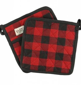 Lazy One Moose Plaid Pot Holder