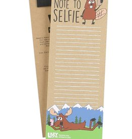 Lazy One Note To Selfie Notepad