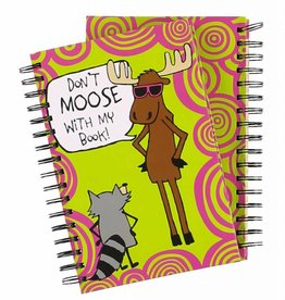 Lazy One Don't Moose With My Book Notebook