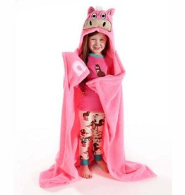 Lazy One Pink Horse Hooded Blanket