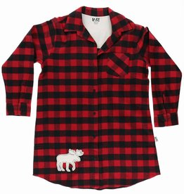 Lazy One Moose Plaid Flannel Nightshirt