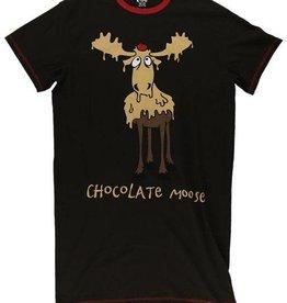 Lazy One Chocolate Moose One Size Nightshirt