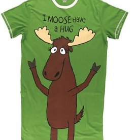 Lazy One I Moose Have A Hug One Size Nightshirt