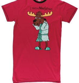Lazy One I Need A Mooseage One Size Nightshirt