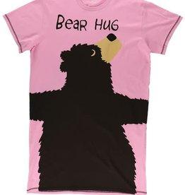 Lazy One Pink Bear Hug One Size Nightshirt