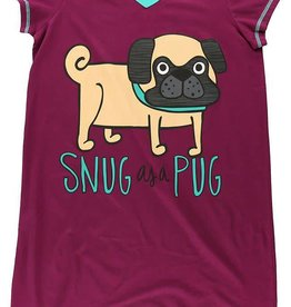 Lazy One Snug As A Pug Nightshirt