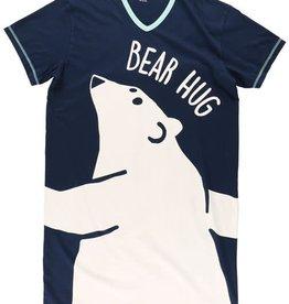 Lazy One Bear Hug (Blue W/Polar Bear) One Size Nightshirt